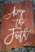 Keep the Faith Religious Rustic Wood Pallet Sign | Woodwork Class Harrisburg Mechanicsburg