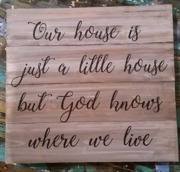 faith wood sign | our house is little god knows where we live | harrisburg mechanicsburg pallet paint