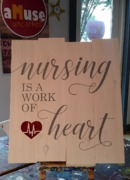 nursing is a work of heart | nurse wooden sign | nurselife decor, wall art, pallet sign