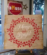 merry and bright rustic christmas wood sign | pallet paint wooden sign merry christmas