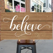 believe wood sign | believe christmas wood sign | christmas mantle pallet sign decor | mechanicsburg harrisburg carlisle hershey
