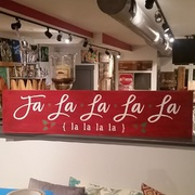 Christmas Mantle Wood Sign | fa la la la la rustic wooden sign | DIY Christmas Wooden Signs Harrisburg Mechanicsburg
