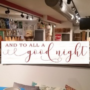 and to all a good night christmas wood sign | merry christmas to all pallet sign class | office holiday party ideas