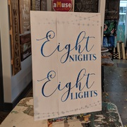Eight Nights Eight Lights Hanukkah Wood Sign | Hanukkah Decor Mechanicsburg Harrisburg | DIY Hanukkah Pallet Sign Class