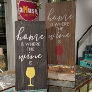 home is where the wine is rustic wood sign | pallet night harrisburg | board and brush