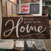 it's so good to be home rustic wood sign mechanicsburg harrisburg pa. pallet night diy signs