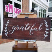 grateful rustic wood sign | pallet sign farmhouse give thanks fall decor