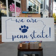PSU Wood Sign | We are Penn State wooden sign wall decor | Cute Fancy Feminine rustic sign