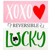 reversible valentine's day st pattys day wood sign decor | xoxo lucky reversible pallet sign