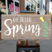 oh hello spring wood sign | diy pallet sign class harrisburg mechanicsburg hershey carlisle