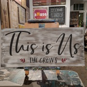this is us wood sign | custom this is us diy pallet sign wall art | harrisburg mechanicsburg hershey camp hill carlisle