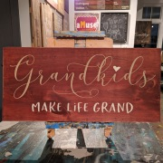 grandkids make life grand wood sign | grandma wood sign gift | make your own wood sign