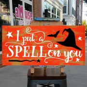 i put a spell on you wood sign | spooky halloween decor | diy halloween signs mechanicsburg