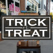 trick or treat wood sign | spooky halloween decor | diy halloween signs mechanicsburg