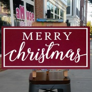 merry christmas wood sign | christmas pallet sign class