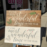 it's the most wonderful time of the year wood sign | diy pallet signs for christmas | fun things to do hershey pa