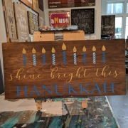 hanukkah wood sign | rustic hanukkah decor pallet sign mechanicsburg