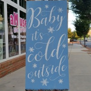 baby it's cold outside wood sign | winter pallet sign classes | winery brewery central pennsylvania